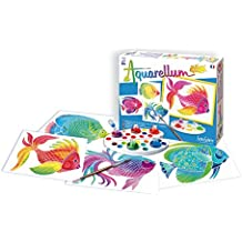 Sentosphère 3900046 - Junior peces Aquarellum pintura conjunto, 4 para colorear