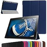 "Lenovo Tablet2-X30F / A10-30 Ultra Funda,Mama Mouth Ultra Slim Ligera PU Cuero Con Soporte Funda Caso Case para 10.1"" Lenovo TAB 2 A10-30 / Tablet2-X30F Android 5.1 Tablet,Azul oscuro"