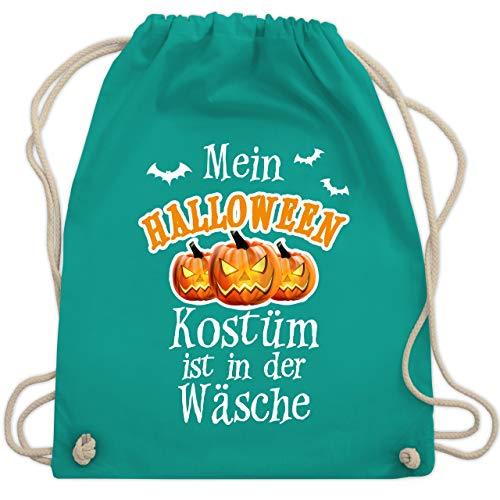 Halloween - Mein Halloween Kostüm ist in der Wäsche - Unisize - Türkis - WM110 - Turnbeutel & Gym Bag