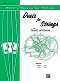 DUETS FOR STRINGS 1 - arrangiert für zwei Kontrabässe [Noten / Sheetmusic] Komponist: APPLEBAUM SAMUEL