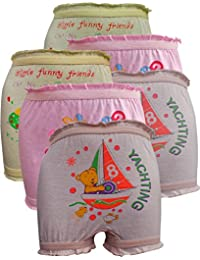 Lurewear Kids Multi Colur Multi Design Bloomers (Pack of 6)