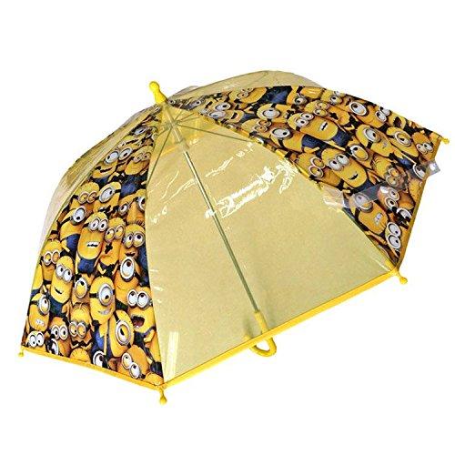 Paraguas Manual burbuja transparente Minions 42cm
