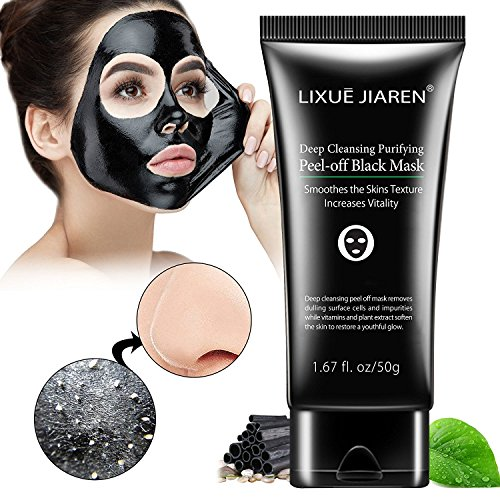 Gesicht Schwarze Auf Flecken (Black maske, Peel off maske, Mitesser Maske, Black Mask, Gesichtsmasken Schwarz, Blackhead Remover Mask, Vassoul® Suction Schwarz Mud Purifying Peel-off-Maske, Tiefenreinigung Mitesser Entferner Anti Akne Öl-Kontrolle Purifying Black Head maske Mitesserentferner)