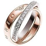 Emporio Armani EG3123 Damen Ring Sterling-Silber 925 rosé Weiß Zirkonia 16,9 mm Größe 53