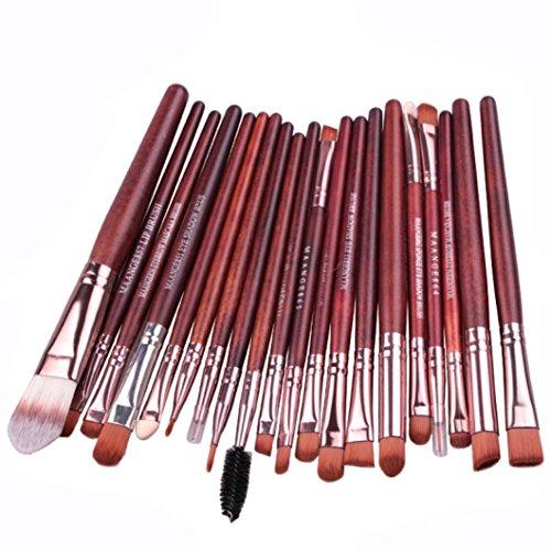 Susenstone 20 Pcs Maquillage Outils Brush Set de Maquillage Trousse de Toilette Laine Maquillage Brush Set