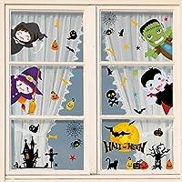 heekpek Pegatinas de Ventana de Halloween Pegatinas para Puertas Decoración de Halloween para Puertas DIY Funny Pegatinas Estáticas Impermeables para Hogar Tienda y Escuela