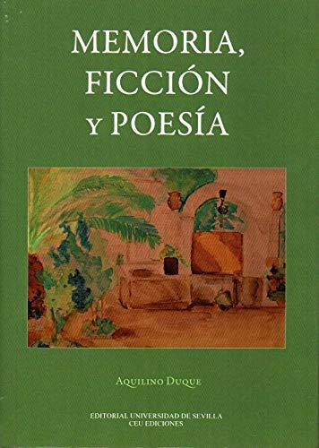 Memoria, ficción y poesía (Literatura)