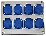 Stromverteiler Steckdosenverteiler Baustromverteiler 8 x 230 V/16A verdrahtet