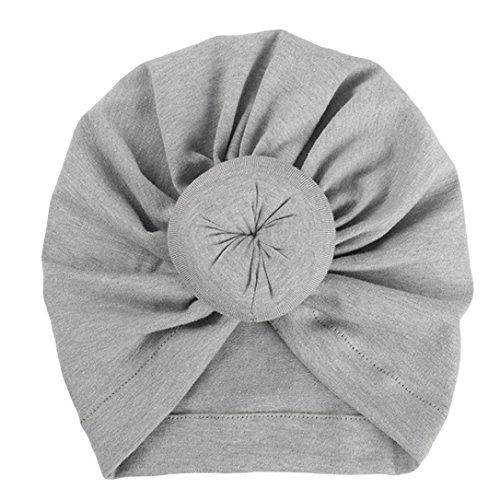 Fuibo Baby Hut, Baby-Turban-Kleinkind scherzt Jungen-Mädchen-Indien-Hut reizenden weichen Hut  Kinder Kappe Fischerhut Schirmmütze Strohhut (Grau)