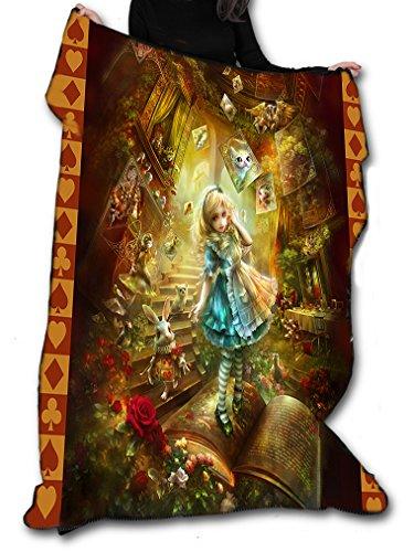 Alice au pays des merveilles Couverture/couvre-lit en polaire/tapisserie