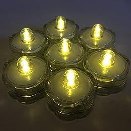 HLS 12 x Luz sumergible de LED Floralyte en cálido Blanco
