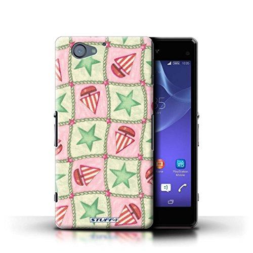 Kobalt® Imprimé Etui / Coque pour Sony Xperia A2 / Pêche/Violet conception / Série Bateaux étoiles Vert/Rouge