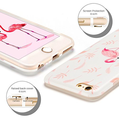 Cover iPhone 6 Plus Case iPhone 6S Plus Custodia Spiritsun Moda Soft TPU Case Christmas Kawaii Cover High Quality Scintillante Luminoso Case Elegante Souple Flessibile Liscio Copertura Perfetta Protez Flamingo 2
