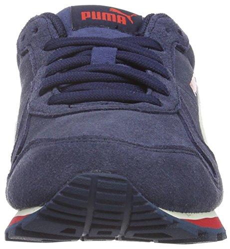 Puma Jungen St Runner Sd Sneaker Blau (Peacoat/Whisper White/Barbados Cherry)