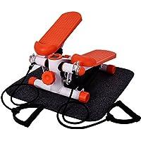 homgrace 151362Stepper con Cuerdas de entrenamiento, Mini Stepper con alfombra protectora bajo ruido para fitness entrenamiento de casa, Arancione