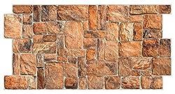 PVC Plastic Wall Panels 3D Decorative Tiles Cladding - Natural Stone (Pack 12 pcs/5.88 sqm)