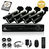 [TRUE 960p HD] SMART CCTV System, KARE 1080N DVR Recorder with 4x Super HD 1.3MP Outdoor Cameras and 1TB Pre-installed Hard Drive Disk (P2P