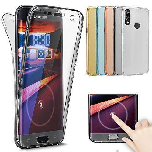 Kompatibel mit Huawei P8 Lite Hülle,Full Body 360 Grad Crystal Clear Handyhülle Transparent TPU Silikon Hülle Tasche Case Vorne und Hinten Schutzhülle für Huawei P8 Lite,Schwarz