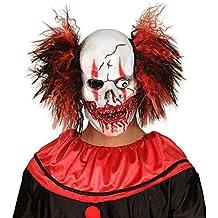 masque de clown zombie tte de mort avec des cheveux masque de bouffon effrayant clown qui fait peur loup de carnaval crne latex