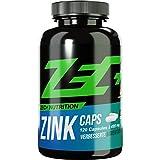 ZEC+ ZINK Caps | Stärkung des Immunsystems | HALAL | Zink in optimaler Bioverfügbarkeit | Aromatasehemmer, wichtiges Mineral im Kraftsport/Bodybuilding | beugt Zink-Mangel vor | 120 Kapseln