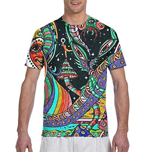 EricJohnston Psychedelic Hippie Camiseta de Manga Corta para Hombre Ca