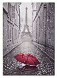 Bild Keilrahmen Paris Eiffelturm schwarzweiß 60x90cm
