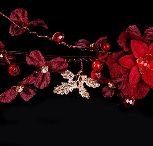 La novia retro simple headdress alea la perla cristalina del pelo que la corona florece el pelo del pelo que los accesorios de la correa del pelo wedding o la fotografía