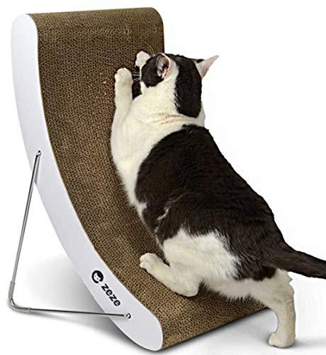 Vacoomcom Katzenkratzmatte, Vertikal Cat Scratch Board, einstellbar in fünf Formen, 15-Grad-Morphologie der Wirbelsäule des Alten Katzen schützen