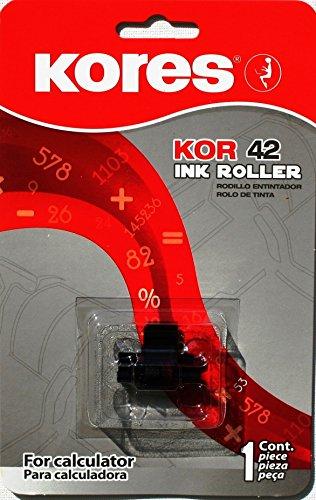 Preisvergleich Produktbild Kores G745SR kompatible Farbrolle für Tischrechner, Filz schwarz, rot für Modell Epson IR 40 T ua