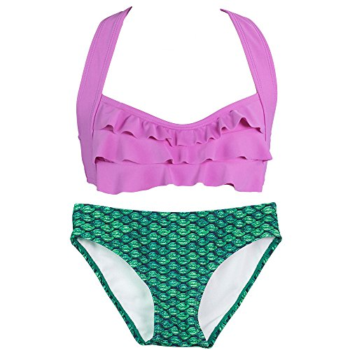 Fin Fun Mermaid Girls Sea Wave Bikini Set, Mermaidens Swimsuits and Swimwear