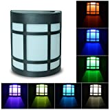 Solar Lights 7 Color Changing Fence Lights Waterproof Ambiance Lighting Great for Outdoor Use in Patio, Pathway, Garden, Indoor Use in Party, Bedroom Decor
