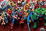 1art1 43492 - Poster dei fumetti Marvel, motivo: attacco dei supereroi, 91 x 61 cm