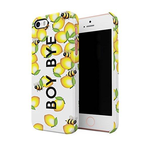 Boy Bye Cute Bumblebees & Lemons Dünne Rückschale aus Hartplastik für iPhone 5 & iPhone 5s & iPhone SE Handy Hülle Schutzhülle Slim Fit Case Cover (Iphone 5 Queen Bee)