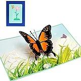 Cuigu Schmetterling Grußkarten handgemachte Geburtstag Hochzeitseinladung 3D Pop Up Karte NEU