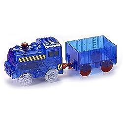 CODOMOXO ® Train Voiture Lumineuse pour Circuit Flexible Magic Tracks - Vu à la Télé (x1)