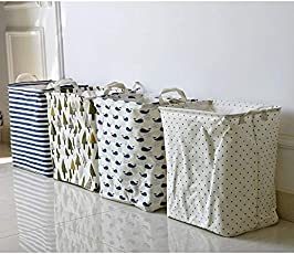 Sterling Square Laundry Basket Exquisite 45-Litre European Pattern Folding Laundry Hamper