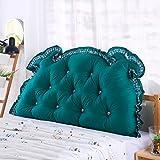 WENZHE Kopfteil Kissen Bett Rückenkissen Rückenlehne Für Bett Bettkeile Keilkissen Palettenpolster Baumwolle Softcase Taillenschutz, 6 Farben (Farbe : 5#, größe : 180 × 15 × 70cm)