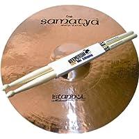 'Istanbul Mehmet Samatya Brilliant Crash 18Platillos Cymbal + baquetas Keepdrum
