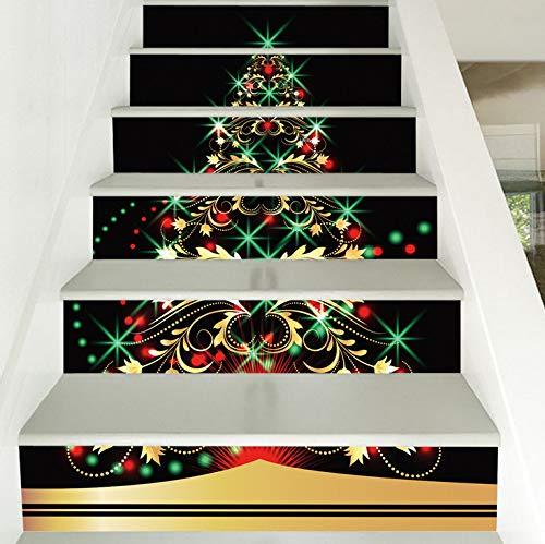 Weihnachtsschmuck Wandaufkleber personalisierte Weihnachtsbaum Treppenhaus Aufkleber