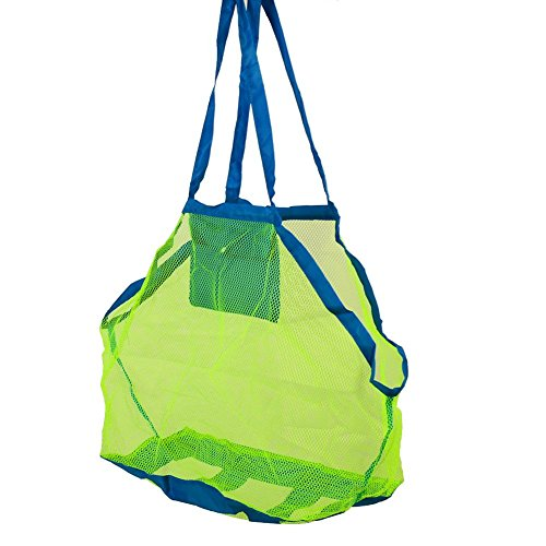 attachmenttou Extra large Sand Away Beach Shell Storage Mesh Bag for Children Beach Toys Clothes Towel