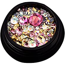 Juego de piedras de estrás para decoración de uñas, cuentas de cristales brillantes, decoración
