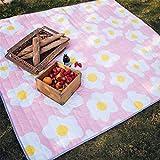 xllx xllx Strandmatte Wasserdichte Und Feuchtigkeitsfeste Außenpicknickmatte Im Freien Schlafzimmerwohnzimmer Niedliches Cartoonkissen Picknickmatte