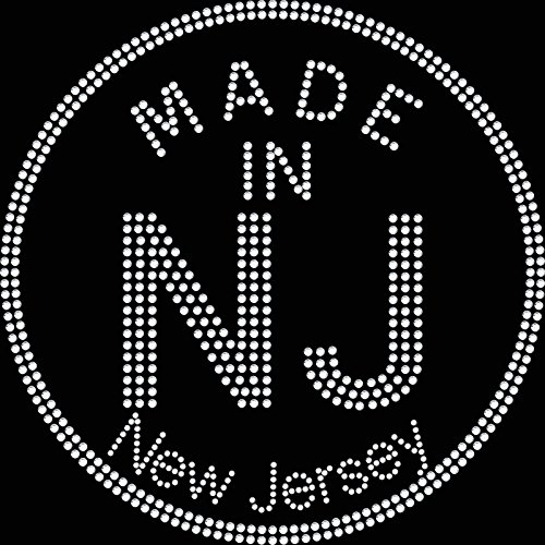 Twisted Envy Made in NJ New Jersey diamante Transfer Iron on T-shirt cristalli hotfix Motif