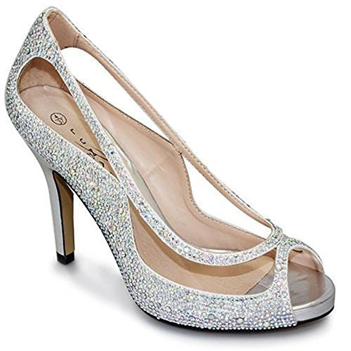 col ONLY tacco Boutique Silver donna Fantasia Scarpe SHOE vngExZ