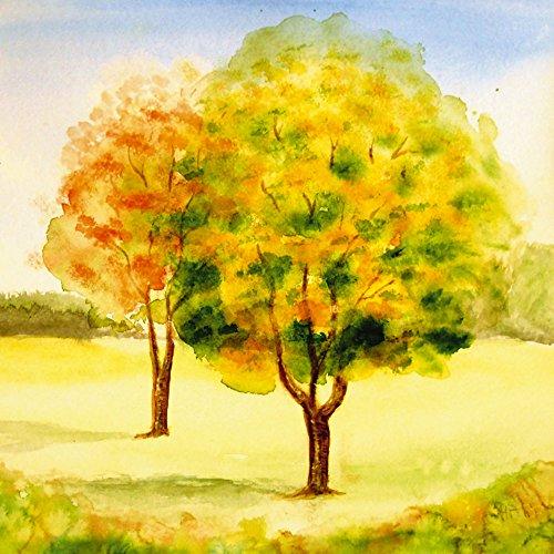 Primavera Poster (Artland Qualitätsbilder I Wandtattoo Wandsticker Wandaufkleber 30 x 30 cm Botanik Bäume Malerei Grün B1TV Primavera)