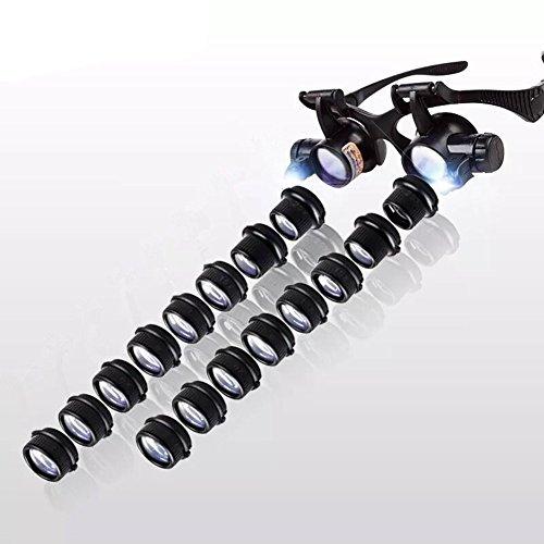 Brillen-Typ Wartung Lupe Reparatur-Uhr mit LED-Leuchten HD Binokular Stempel (Bug Brille)