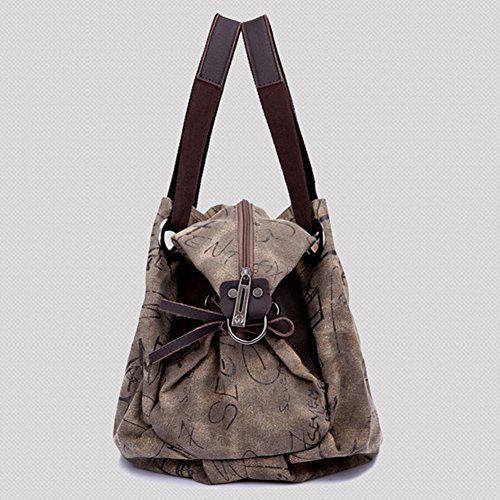 Pairs D, Borsa a zainetto donna marrone Brown large Brown