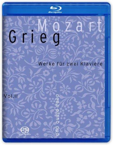 Mozart, Grieg : Sonates pour 2 pianos. Dena Piano Duo. [Blu-ray]