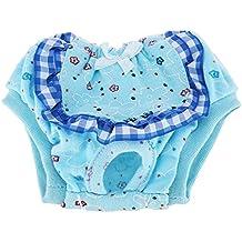 Dxlta Pañal para Perro Mascota Pantalones Fisiológicos Lavable Perros Hembra Underpant de Menstruación
