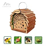 Gardigo Insect hotel for bees and ladybirds natural wooden colors natural plant protection natural aphids